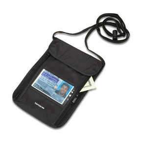 RFID Neck Pouch in the color Black.