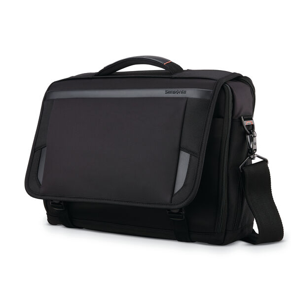 "Samsonite Pro 15.6"" Slim Messenger in the color Black."