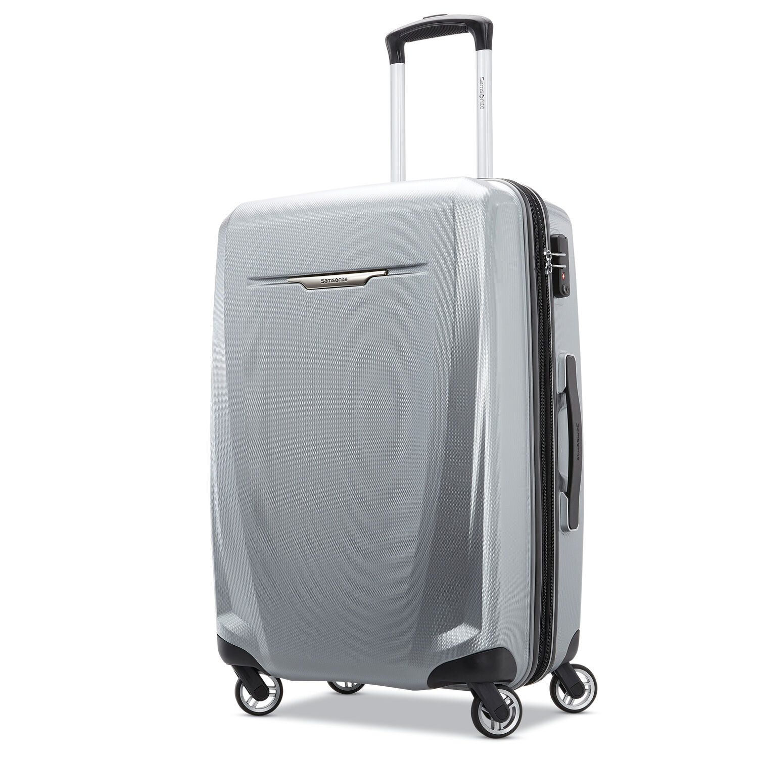 """Samsonite Winfield 3 DLX 25"""" Spinner in the color Silver."""