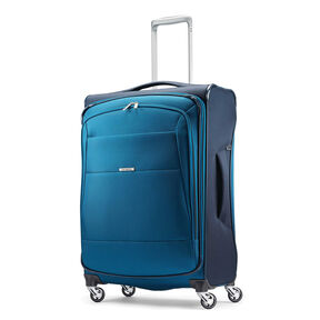 "Samsonite Eco-Nu 25"" Expandable Spinner in the color Pacific Blue/Navy."