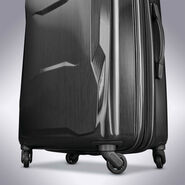"Samsonite Pivot 25"" Spinner in the color Brushed Black."