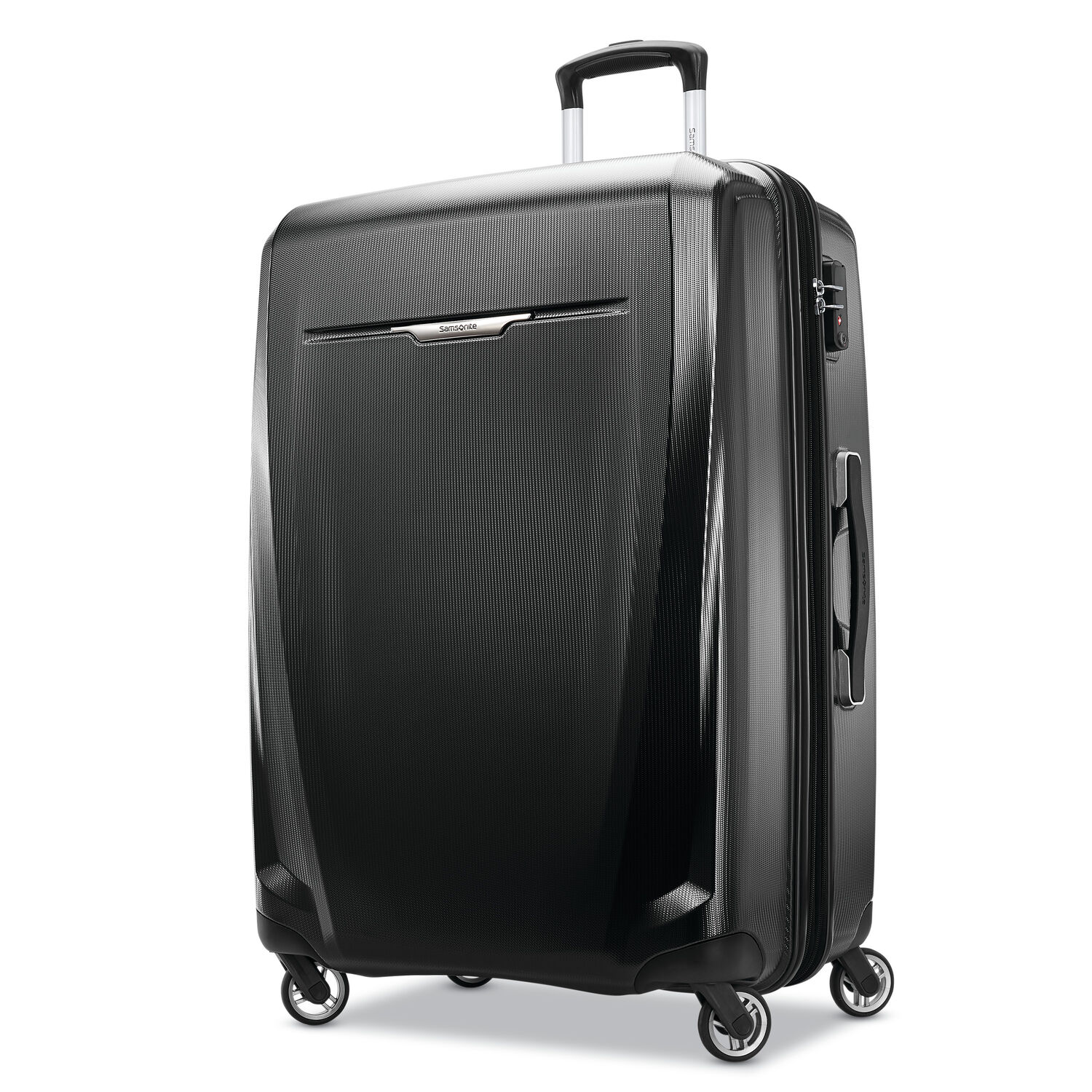 "Samsonite Winfield 3 DLX 28"" Spinner in the color Black."