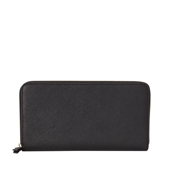 Samsonite Ladies Leather Zip Around Wallet in the color Black.