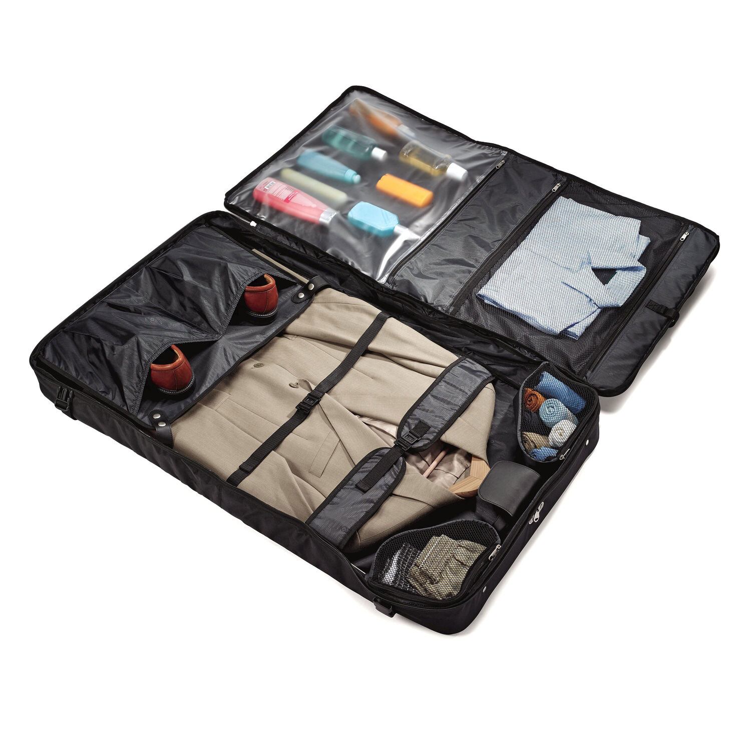 Play Samsonite Aspire Xlite Collection Ultravalet Garment Bag In The Color Black