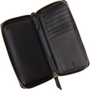 Samsonite Ladies Leather Zip Tech Wristlet in the color Black.