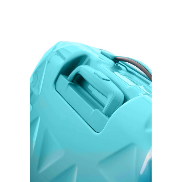 "Samsonite Novus 20"" Spinner in the color Aquamarine."