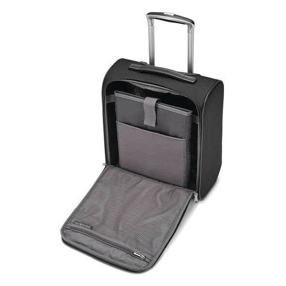Samsonite SoLyte DLX Underseat Wheeled Carry-On in the color Midnight Black.