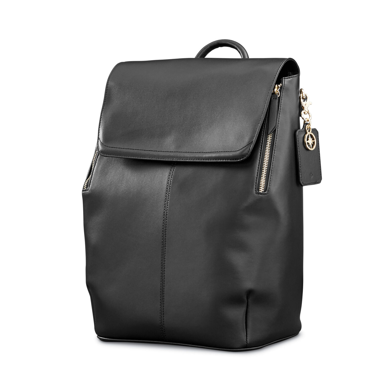 Samsonite Ladies Leather Hamptons Backpack in the color Black. 326041017a