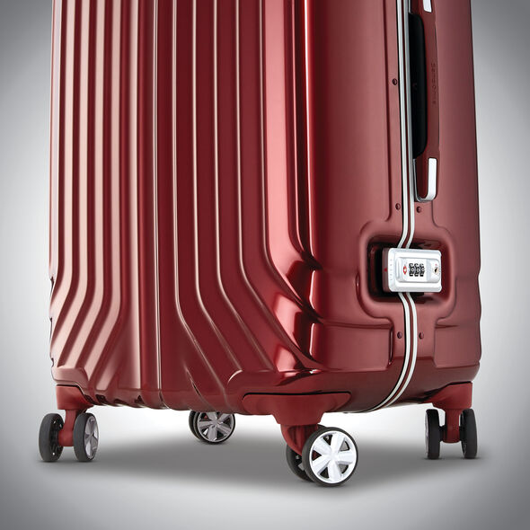 "Samsonite Tru-Frame 25"" Spinner in the color Dark Red."