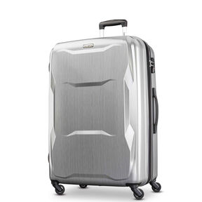 "Samsonite Pivot 29"" Spinner in the color Brushed Silver."