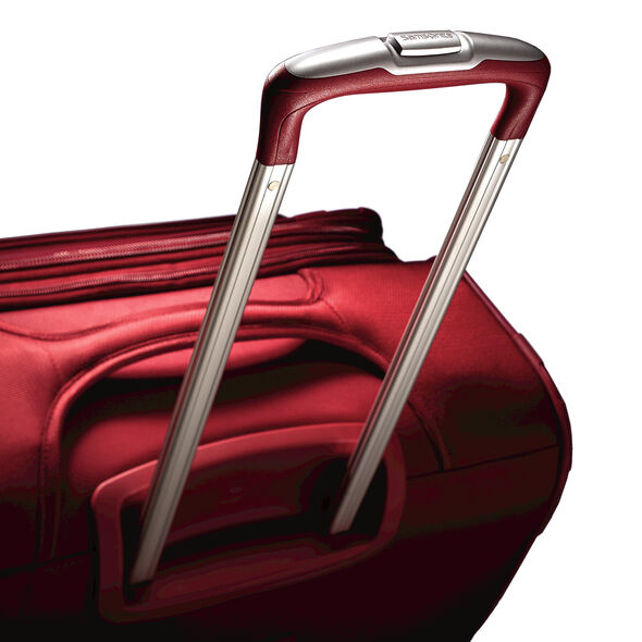 "Samsonite Lift2 21"" Spinner in the color Red."