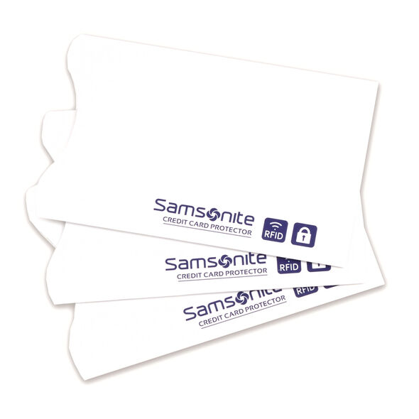 Samsonite RFID Credit Card Sleeves (3 pack) in the color White.