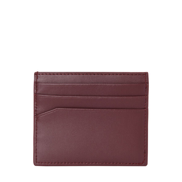 Samsonite Leather Card Case in the color Sangria.