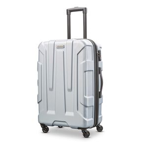 "Samsonite Centric 24"" Spinner in the color Silver."