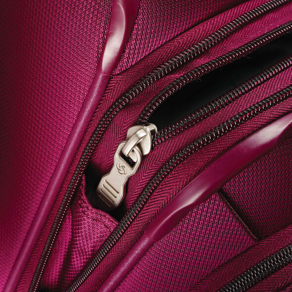 "Samsonite Eco-Nu 20"" Expandable Spinner in the color Raspberry."