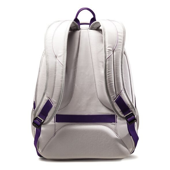 Samsonite Viz Air 2 Laptop Backpack in the color Silver/Purple/Yellow.