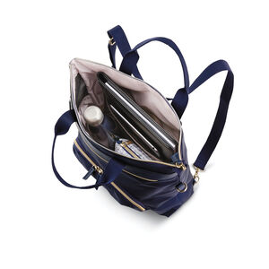 Mobile Solution Convertible Backpack in the color Navy Blue.