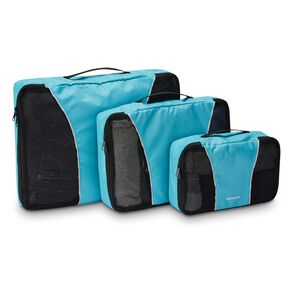 Samsonite 3 Piece Packing Cube Set in the color Blue.