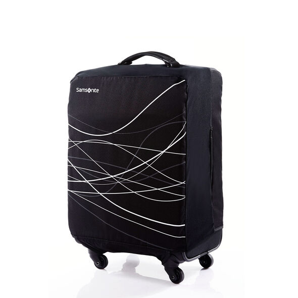 Small Foldable Luggage Cover in the color Black.