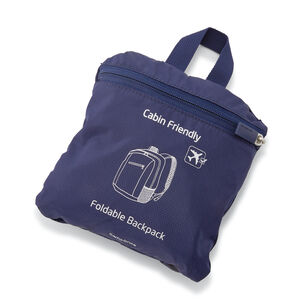 Foldaway Backpack in the color Evening Blue.