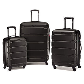 Samsonite Omni PC 3 Piece Spinner Set in the color Black.
