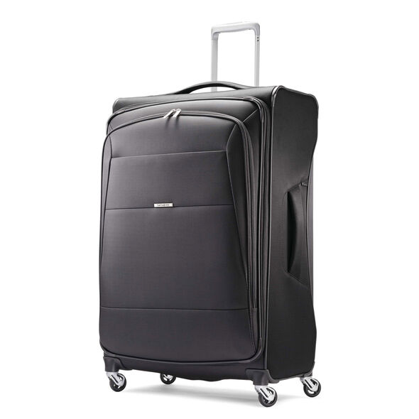 "Samsonite Eco-Nu 29"" Expandable Spinner in the color Granite/Midnight Black."