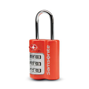3 Dial Combination Lock in the color Varsity Red.