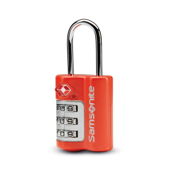 Samsonite 3 Dial Combination Lock in the color Varsity Red.