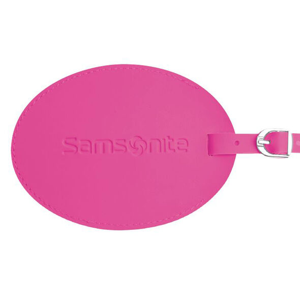 Samsonite Large Vinyl ID Tag in the color Light Pink.