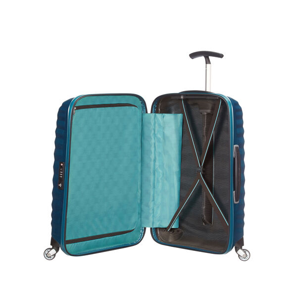 "Samsonite Black Label Lite-Shock 30"" Spinner in the color Petrol Blue."