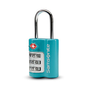 Samsonite 3 Dial Combination Lock in the color Emerald Teal.
