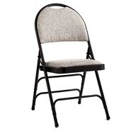 Samsonite Comfort Series Steel & Fabric Folding Chair (Case/4) in the color Black/Neutral.