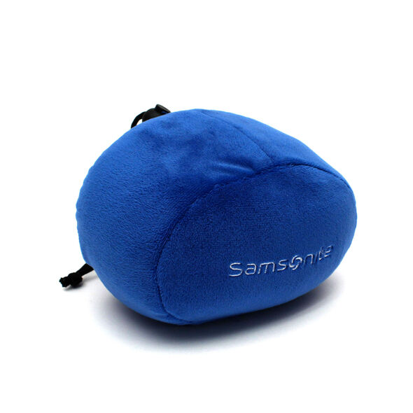 Samsonite Memory Foam Pillow w/Pouch in the color Blue.
