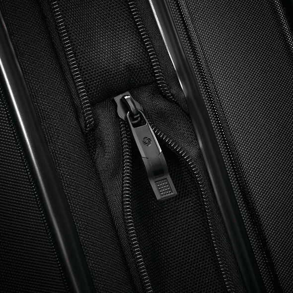"Samsonite Silhouette 16 29"" Hardside Spinner in the color Obsidian Black."