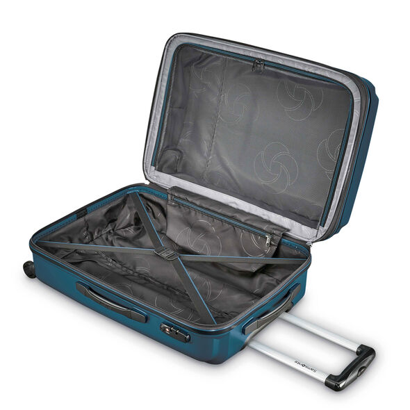 "Samsonite Pivot 20"" Spinner in the color Teal."