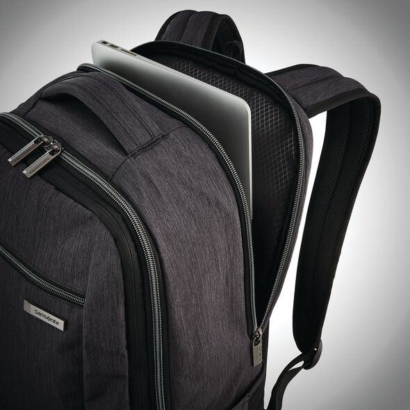 Samsonite Modern Utility Travel Backpack in the color Charcoal Heather/Charcoal.