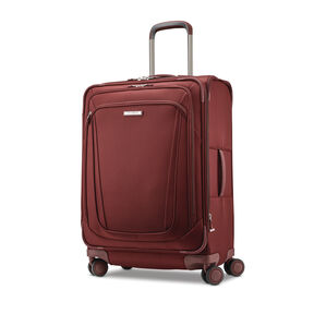 "Samsonite Silhouette 16 25"" Expandable Spinner in the color Cabernet Red."