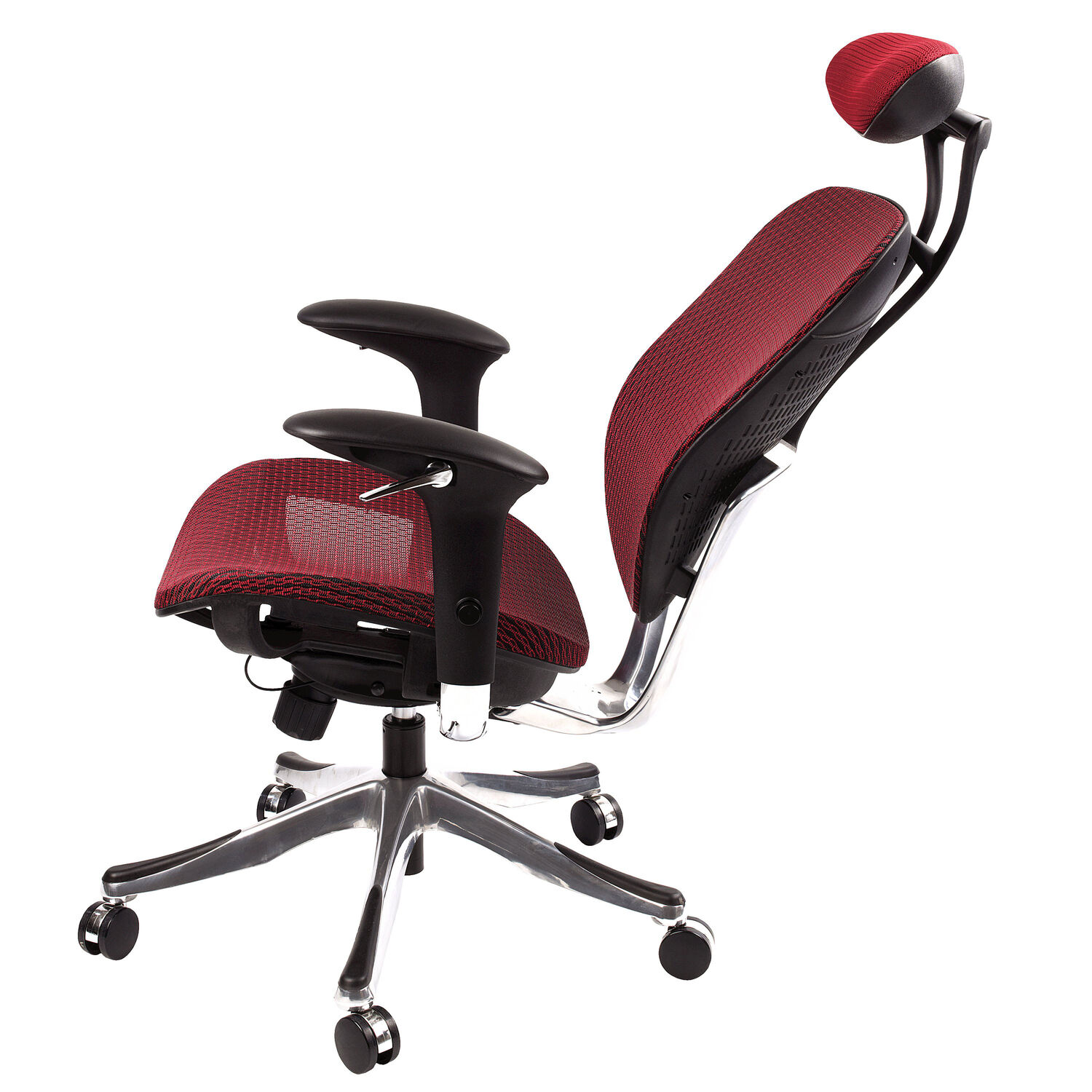 Samsonite Zurich Mesh Office Chair In The Color Burgundy