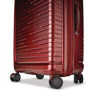 "Samsonite Silhouette 16 25"" Hardside Spinner in the color Cabernet Red."