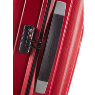 "Samsonite Chronolite 30"" Spinner in the color Chili Red."