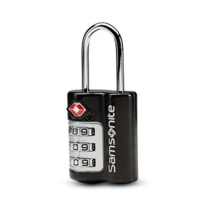 Samsonite 3 Dial Combination Lock in the color Black.
