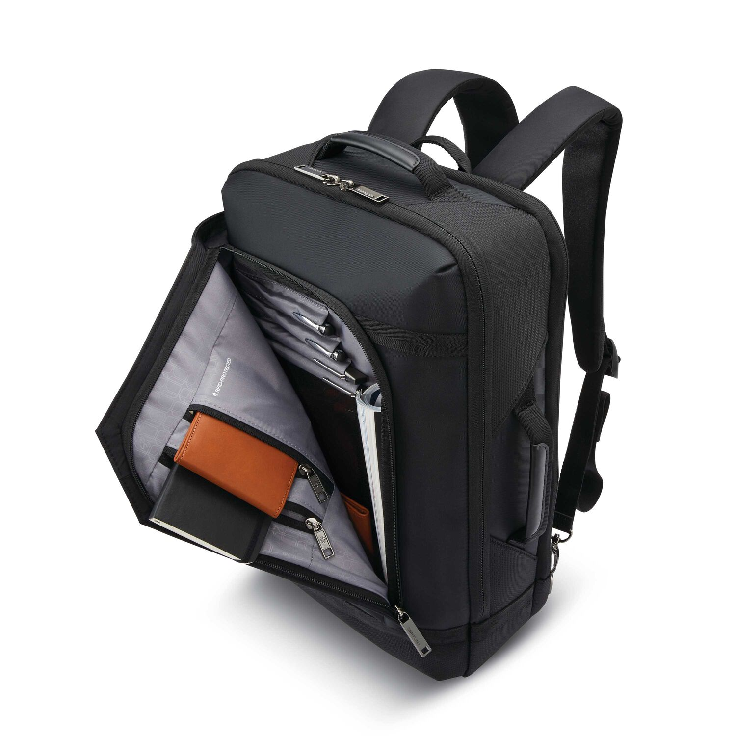 267aed6a707 Samsonite Encompass Convertible Backpack in the color Black.
