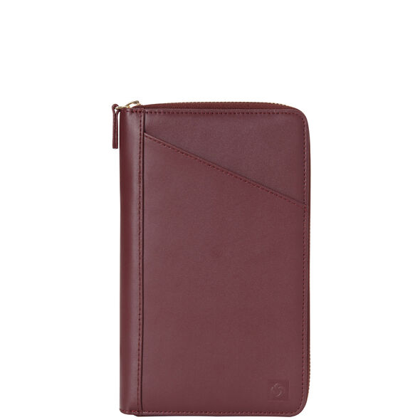 Samsonite Leather Zip Travel Wallet in the color Sangria.