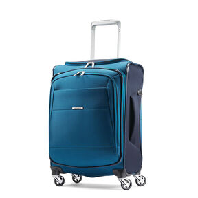 "Samsonite Eco-Nu 20"" Expandable Spinner in the color Pacific Blue/Navy."