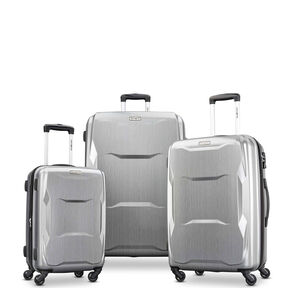 Samsonite Pivot 3 Piece Set in the color Brushed Silver.