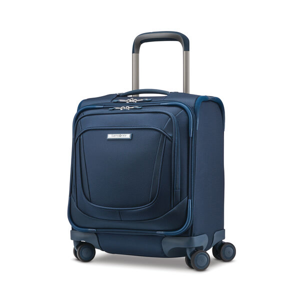 Samsonite Silhouette 16 Underseat Carry-On Spinner in the color Evening Teal.