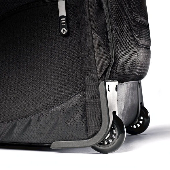 "Samsonite Tectonic 21"" Wheeled Backpack in the color Black."