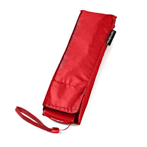 Manual Flat Compact Umbrella in the color Red.