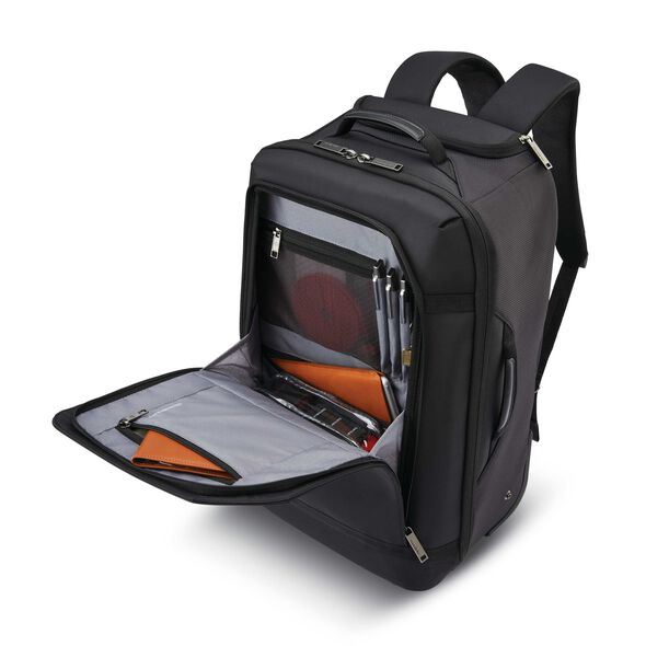Samsonite Encompass Convertible Wheeled Backpack in the color Black.