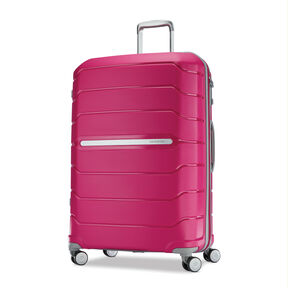"Samsonite Freeform 28"" Spinner in the color Dark Pink."